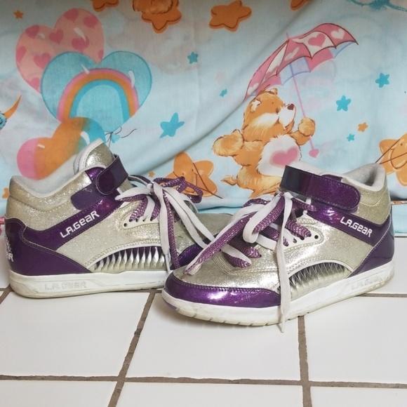 L.A. Gear Shoes   La Gear Purple Silver